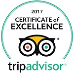 2017 Trip Advisor Certificate of Excellence Award