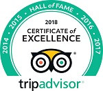 2018 Trip Advisor Certificate of Excellence Award